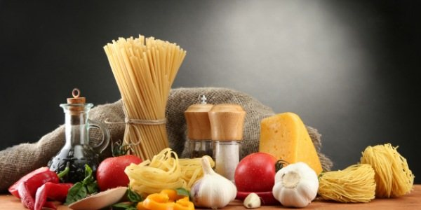 The chemical composition of pasta