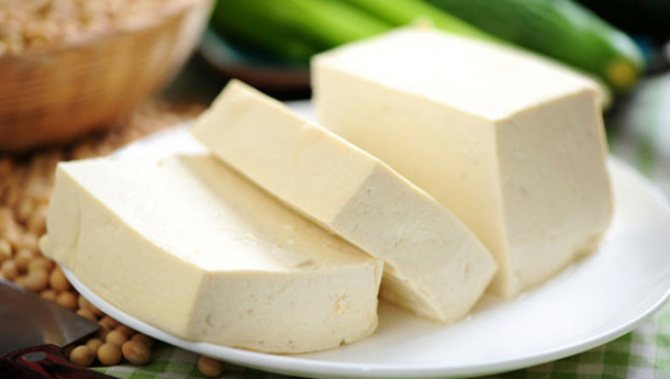 Tofu is useful for its trace elements that make up cheese