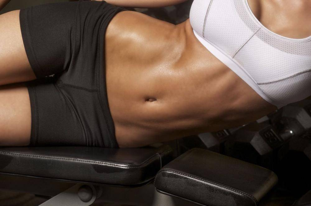 How to correctly and quickly pump up a girl's abs
